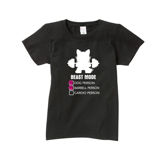 Tシャツ レディース【BEASTMODE DOG PERSON?】