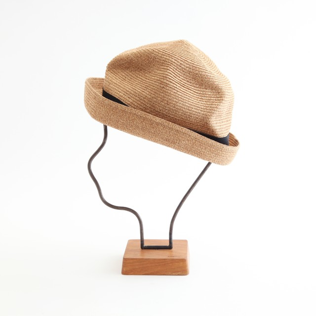 mature ha./BOXED HAT 101SWE mixbrown×white