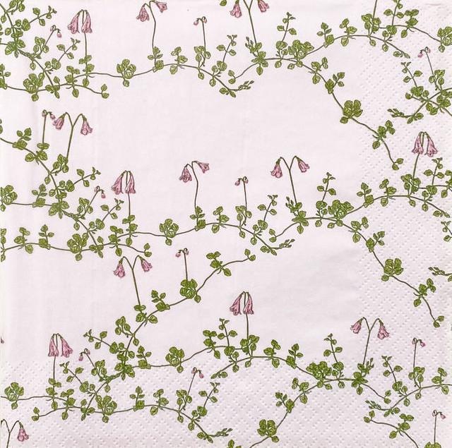 北欧【havi】バラ売り1枚 ランチサイズ ペーパーナプキン Vanamo ピンク Designed by Nuppu