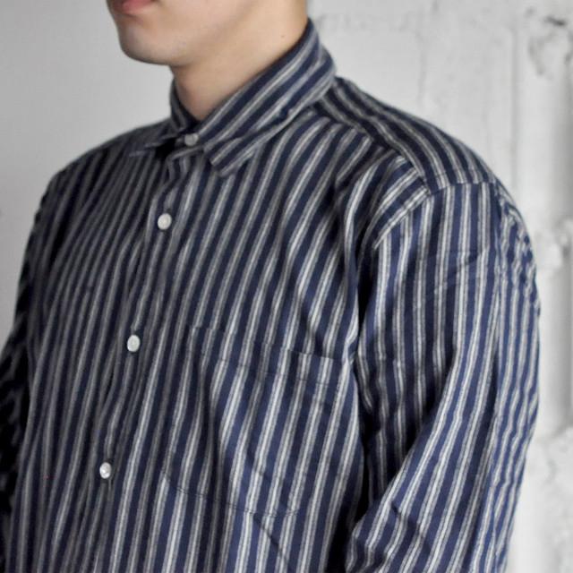Portuguese flannel shirt - navy stripe -