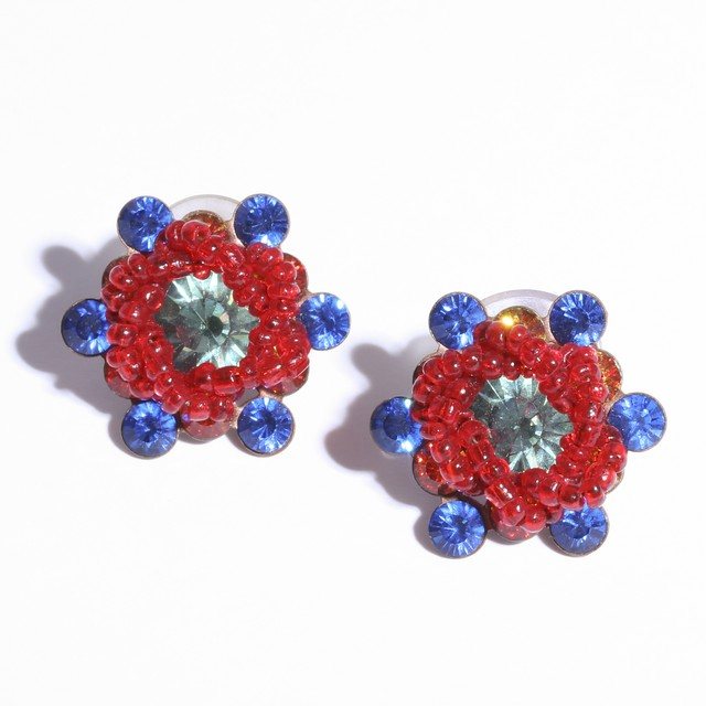 beads Flower  Pierce