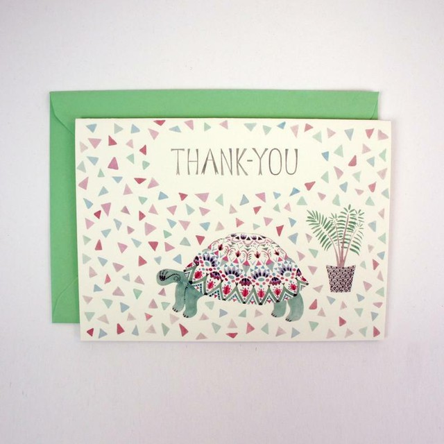 Tortoise and Plant Thank-You