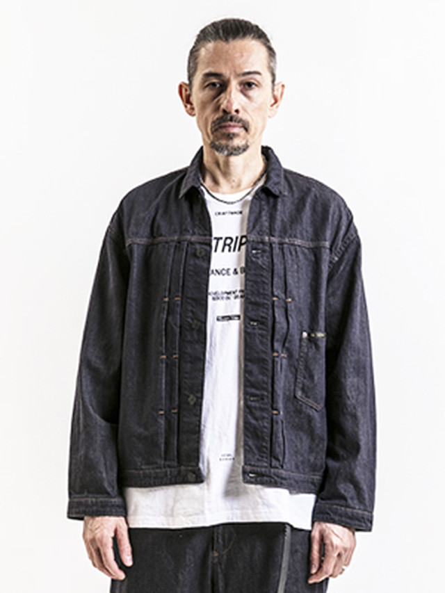 EGO TRIPPING (エゴトリッピング) SLACK FIRST DENIM JACKET / INDIGO   613203-58