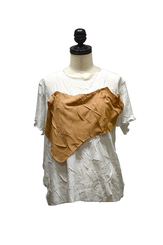 todo kotohayokozawa / crash top short sleeve / White