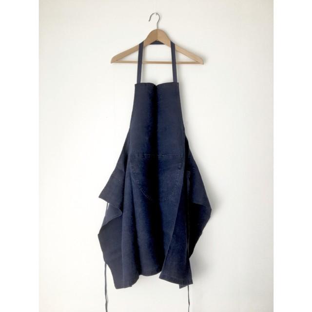 麻のヴィンテージエプロン|Vintage Linen Apron