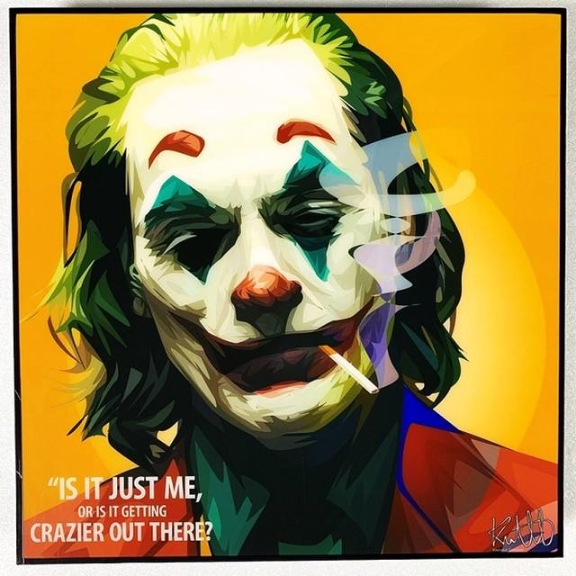 Joker (5) / ジョーカー「ポップアートパネル Keetatat Sitthiket」ポップアートフレーム ポップアートボード グラフィックアート ウォールアート 絵画 壁立て 壁掛けインテリア 額 ポスター プレゼント ギフト インスタ映え 映画 アメコミ キータタットシティケット