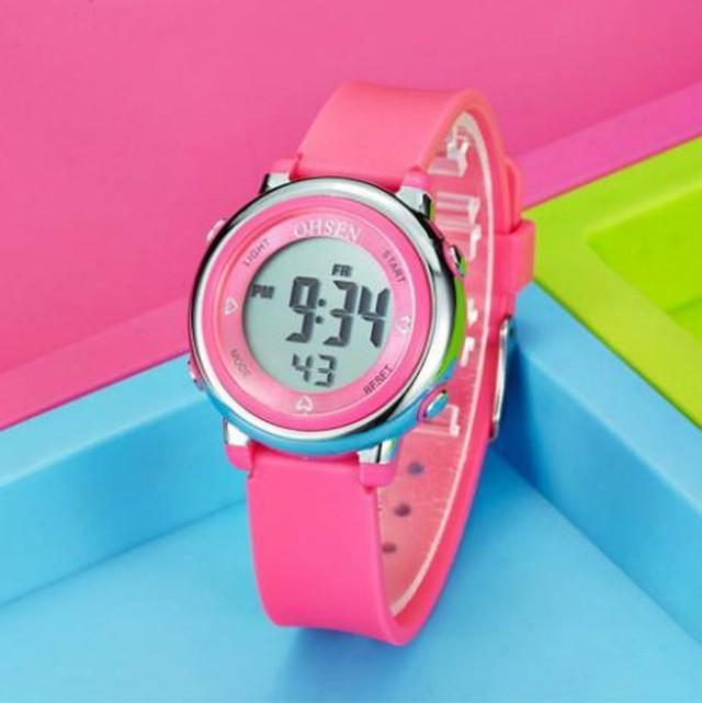 レディース スポーツウォッチ 腕時計 ピンク 防水 LED デジタル 多機能 メンズ ガール ボーイ Trendy-24-pink