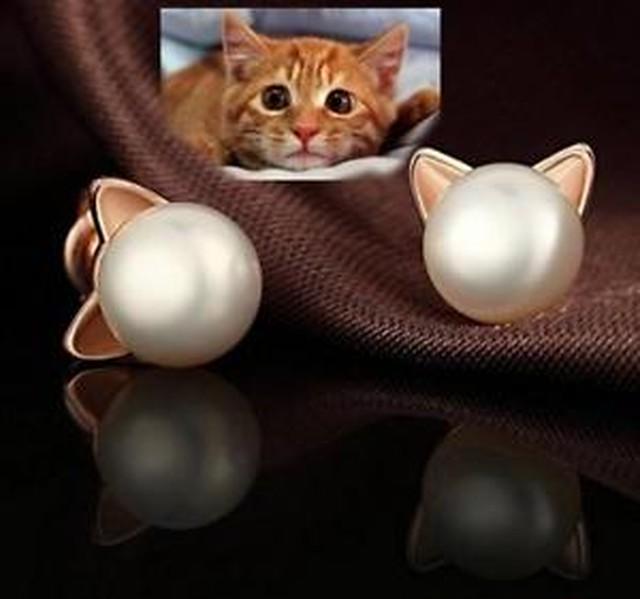 【送料無料】レディーススターリングファッションイヤリングfindout ladies sterling silver cat love fashion earrings , for women girls child