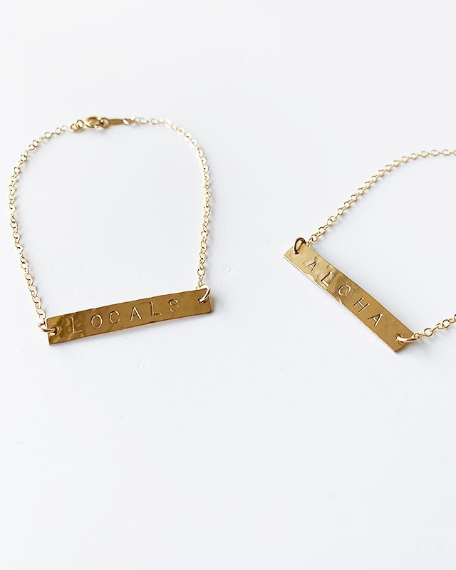 Gold plate bracelet ( ALOHA・LOCALS )