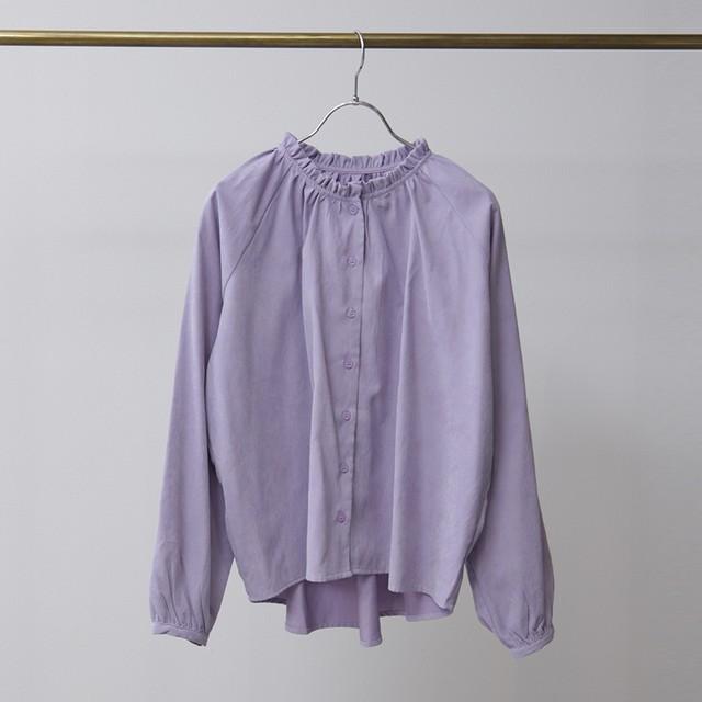 ソフトピーチフリルカラーシャツ FLH21010
