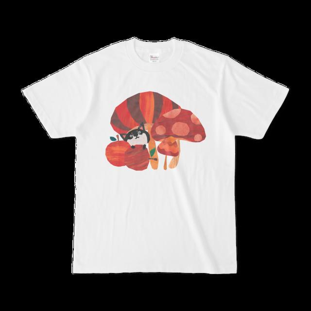 前面プリントイラストTシャツ 『どくきのこはどれ』