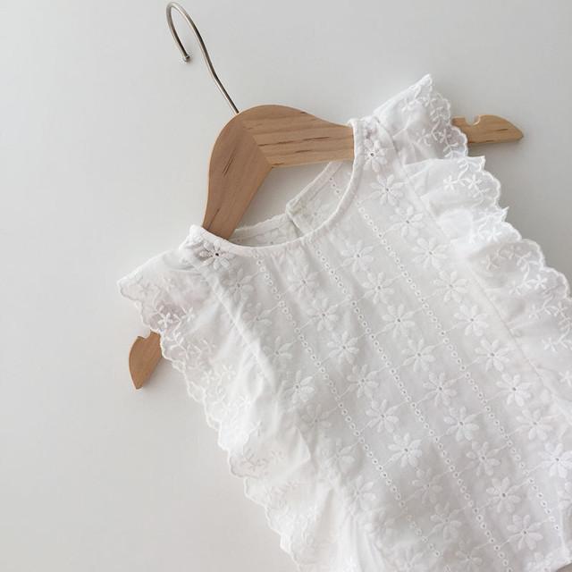*6/18-20 新商品10%off【先行予約】ホワイトブラウス シャツ SS 春夏 韓国子供服