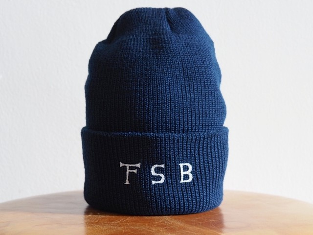 FUJITOSKATEBOARDING Knit Cap Navy,Black