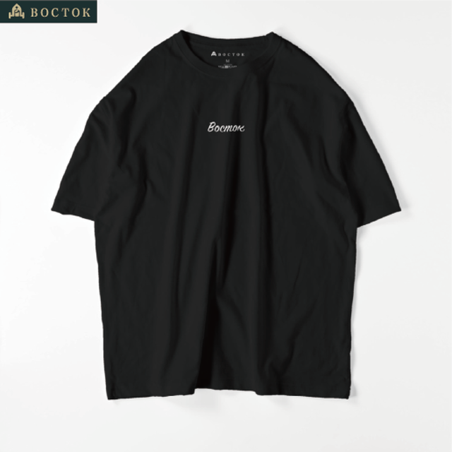 """Восток""(Tシャツ:ビッグシルエット:黒)"