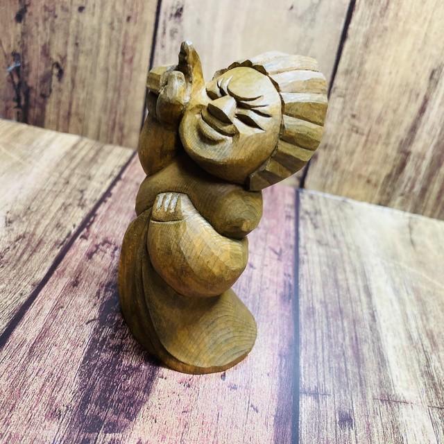 オリジナル円空仏 指月(しげつ)【木彫り】【受注製作】
