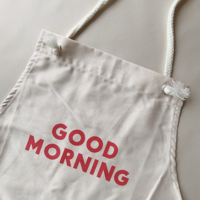 GOOD MORNING Apron Adult