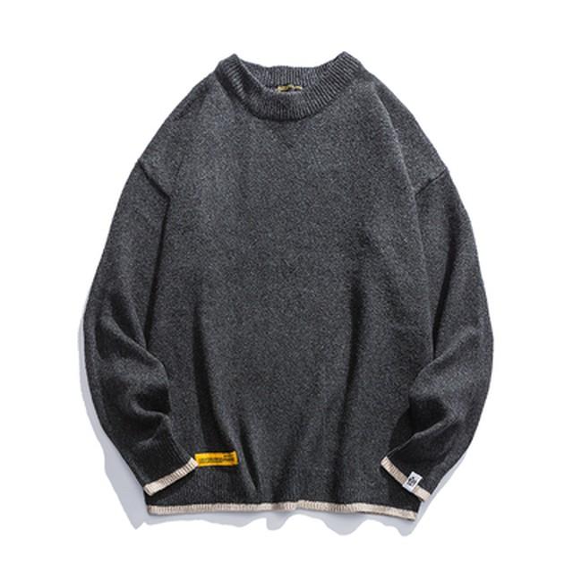 【UNISEX】クルーネック セーター【4colors】
