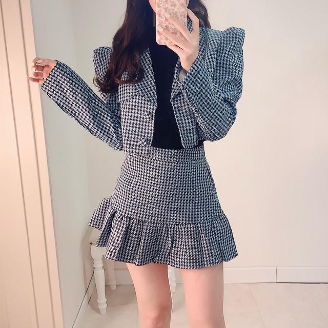 【 再入荷 】【9/17発売START】frill dolly jacket SETUP