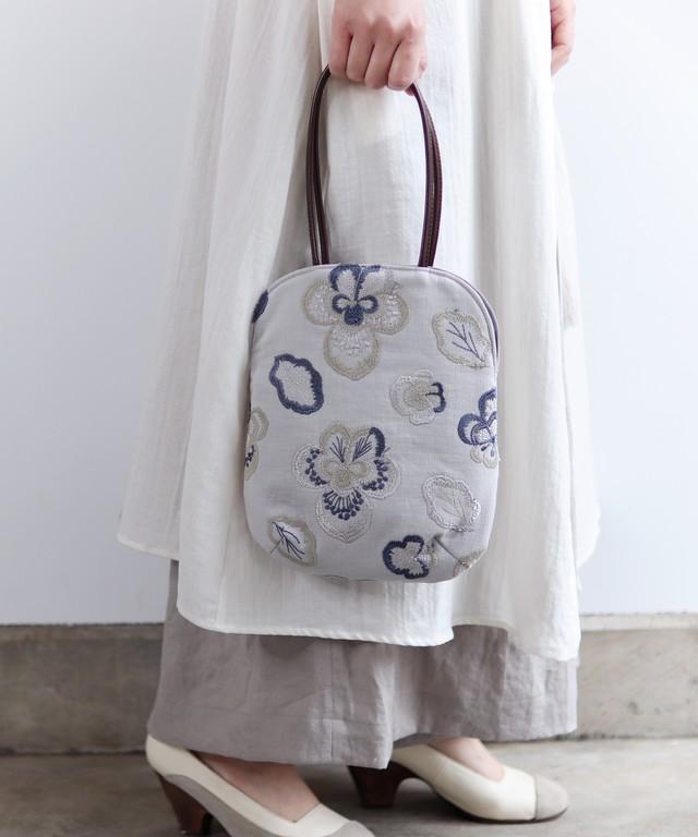 【再入荷】ビオラ刺繍のminiバッグ (bag009)