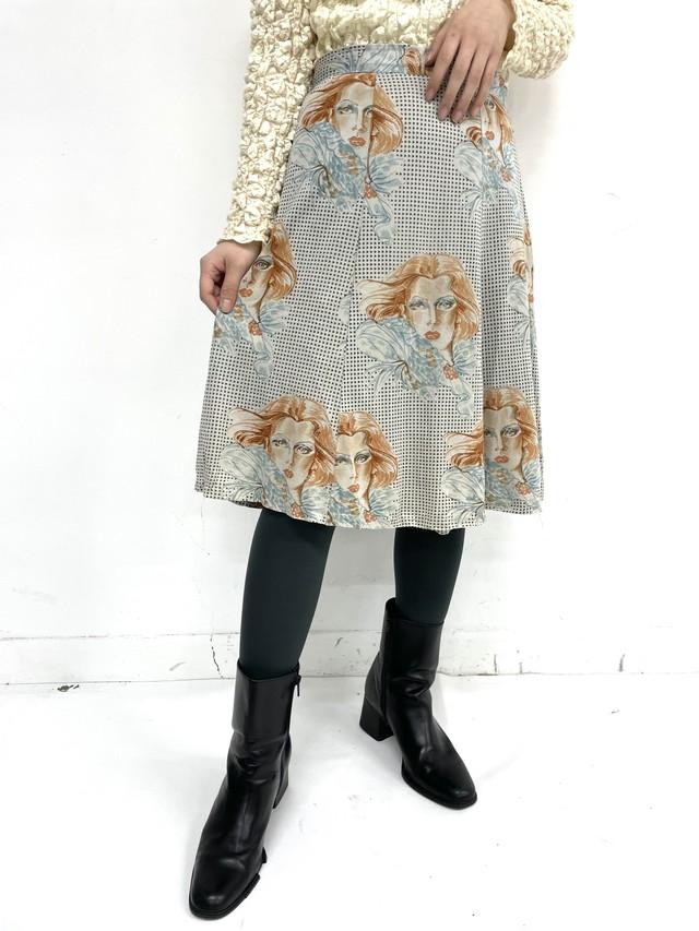 print flare skirt / 3SSSK05-08