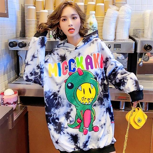 【トップス】韓国系長袖ファッションキュート青春プリントパーカー33068472
