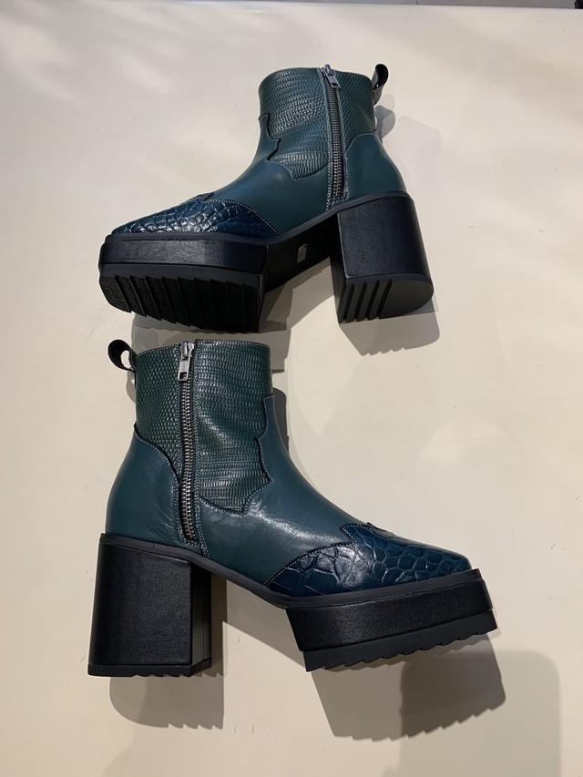 GVGV   WESTERN ANKLE BOOTS (GREEN)