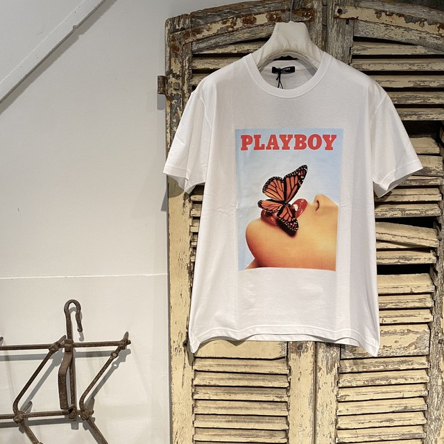 Marbles【マーブルズ】PLAY BOY S/SL TEE 01 / WHITE/ SIZE:XL-A20PB01