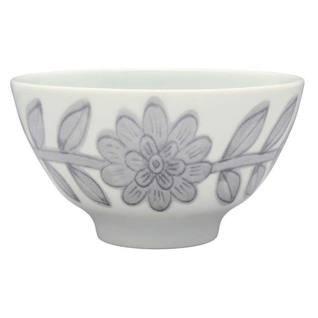 波佐見焼 感器工房 Nishiyama 飯碗 茶碗 約12cm デイジー グレー 245351