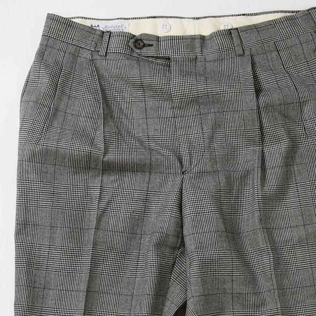 【w32寸】CORBIN CHECK WIDE PANTS ワイド チェックパンツ GRAY 400612191014