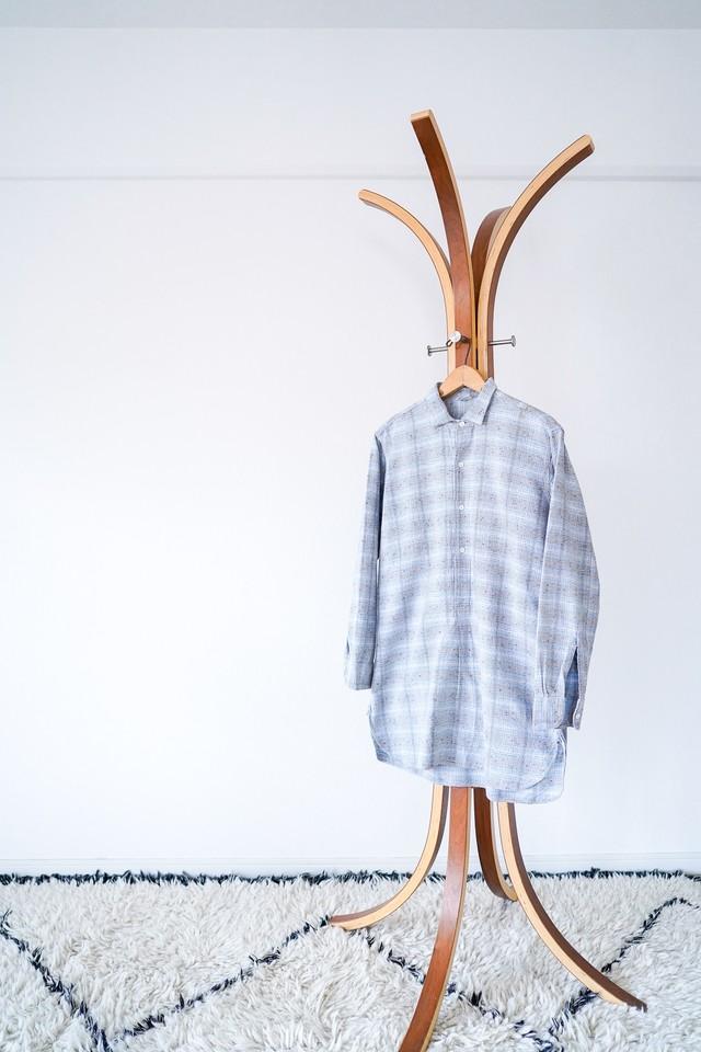 "【1950s】""Netherlands Made"" Euro Vintage Grandpa Shirts / v507"