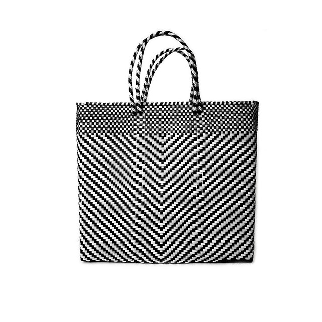 MERCADO BAG ESPIGA - Black x White(S)