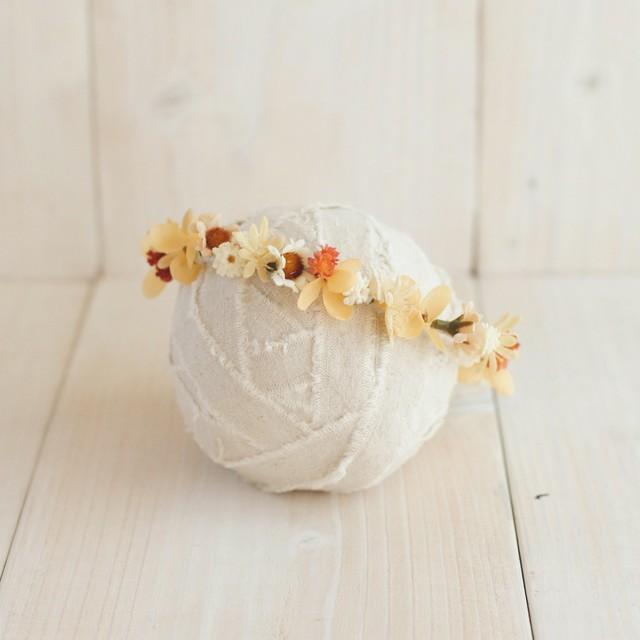 花かんむり  antique orange アーティフィシャルフラワー ニューボーン