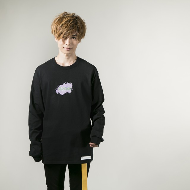 Pastel Ink Long Sleeve T-shirt   Black