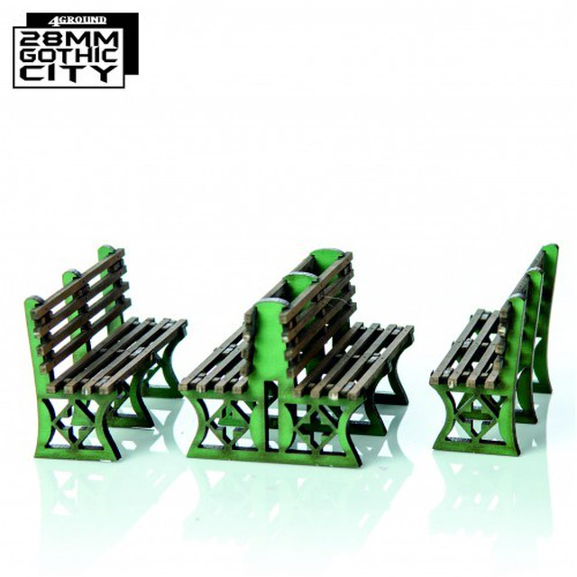 【予約発注】Green Iron Frame Benches 28F-GOC-A22G