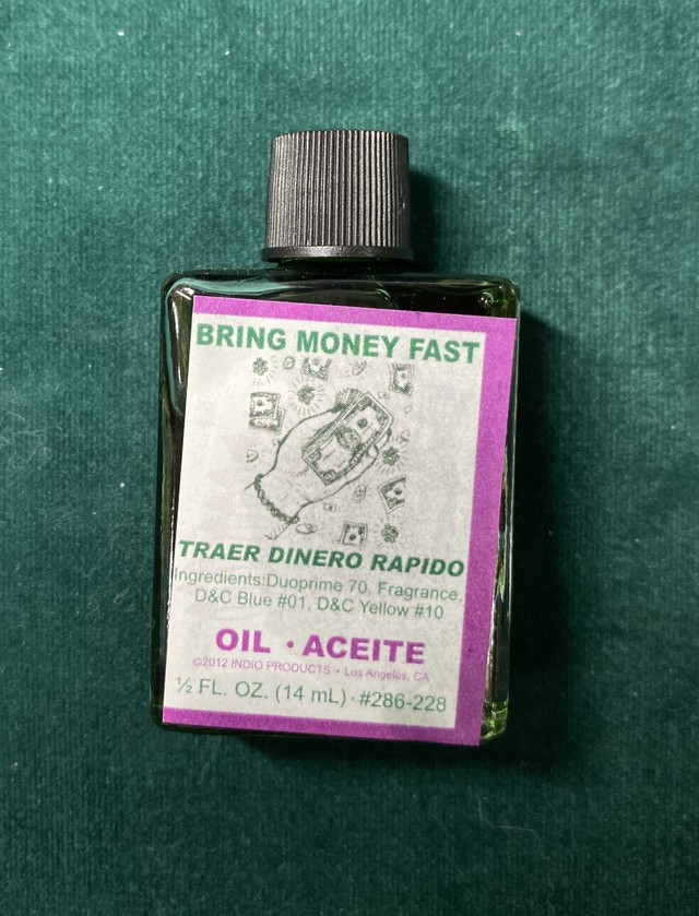 【NEW ARRIVALS】ブリングマネーファスト マジカルオイル・魔女オイル BRING MONEY FAST Magical Oil