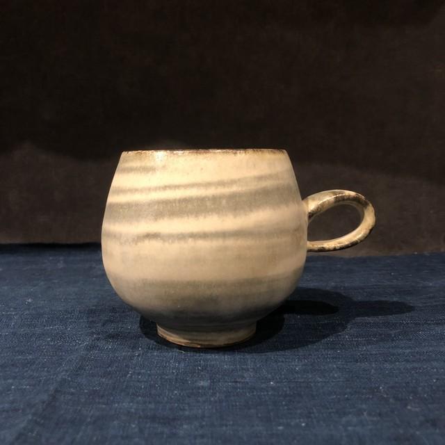 小代焼一先窯 つぶ化粧緑釉 マグカップ