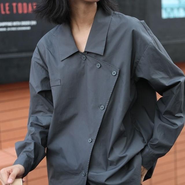 Mens like asymmetry shirt(メンズライクアシンメトリシャツ)a-800