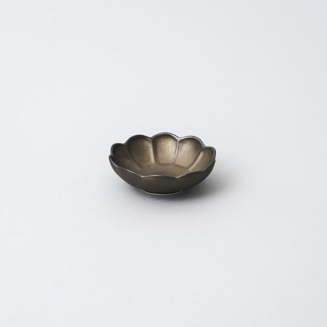 輪花小鉢 9.5cm  (ターコイズブルー釉)