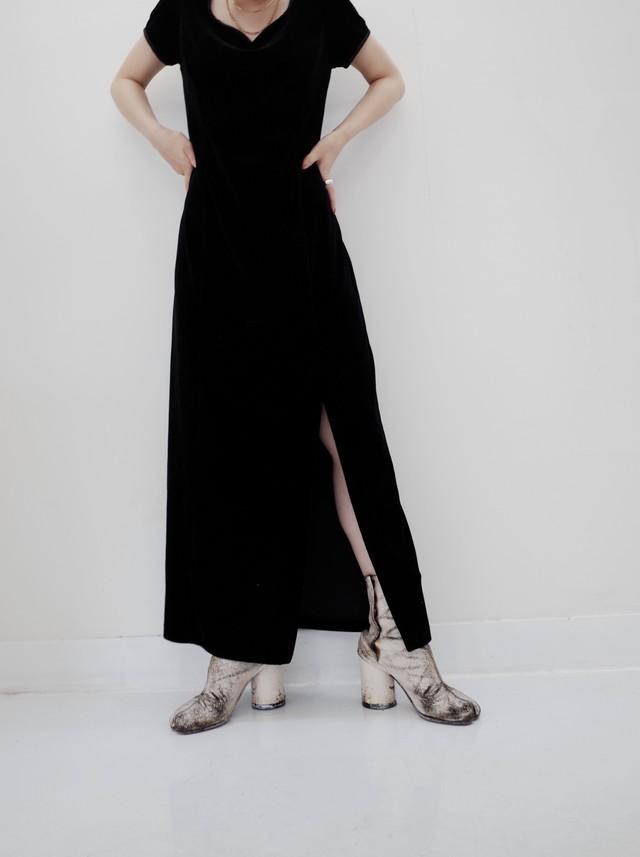 used velours dress
