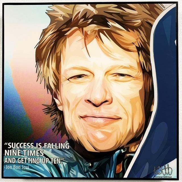 Jon Bon Jovi / ジョン ボン ジョヴィ「ポップアートパネル Keetatat Sitthiket」ポップアートフレーム ポップアートボード グラフィックアート ウォールアート 絵画 壁立て 壁掛けインテリア 額 ポスター プレゼント ギフト インスタ映え 音楽 キータタットシティケット