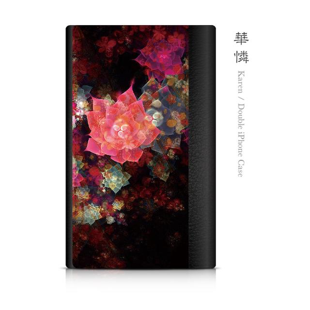 華憐 - 和風 ダブルiPhoneケース