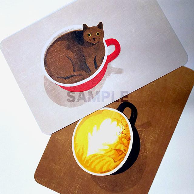 台湾ポストカード「アメリカン猫とラテ猫」