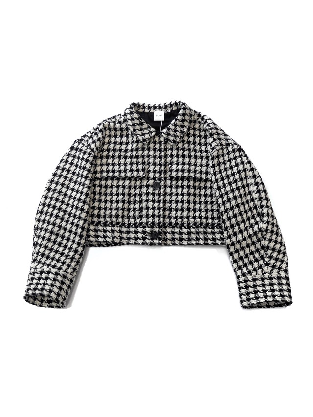 【ELIN】Tweed big pk jacket