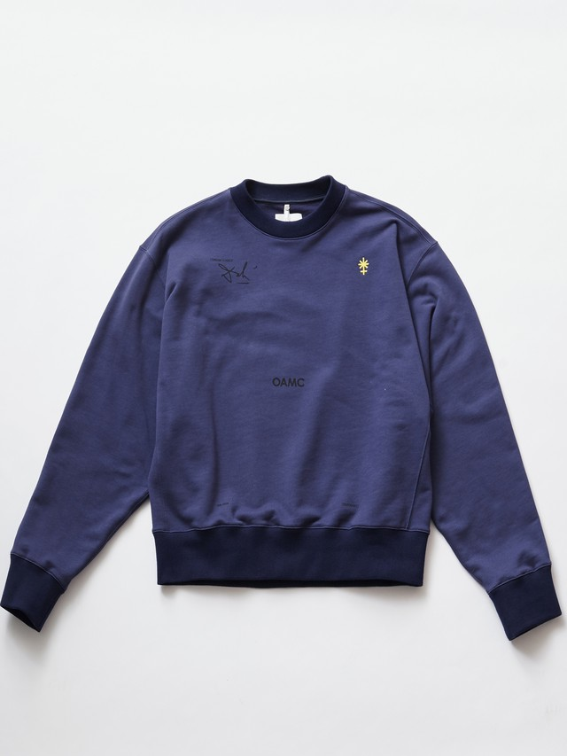 OAMC LOGIC CREWNECK Factory Blue OAMQ704581