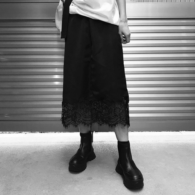 【WOMENS - 1 size】LACE SKIRT / Black