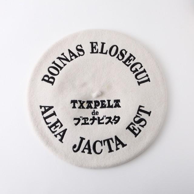 刺繍バスク帽 BLACK(サイズ12 / 13.5) TDB-W-01