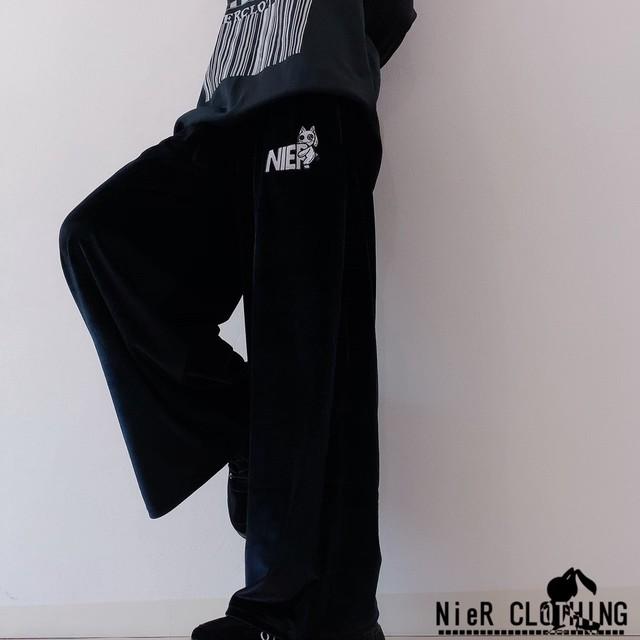 NieR BLACKベロアWIDE PANTS