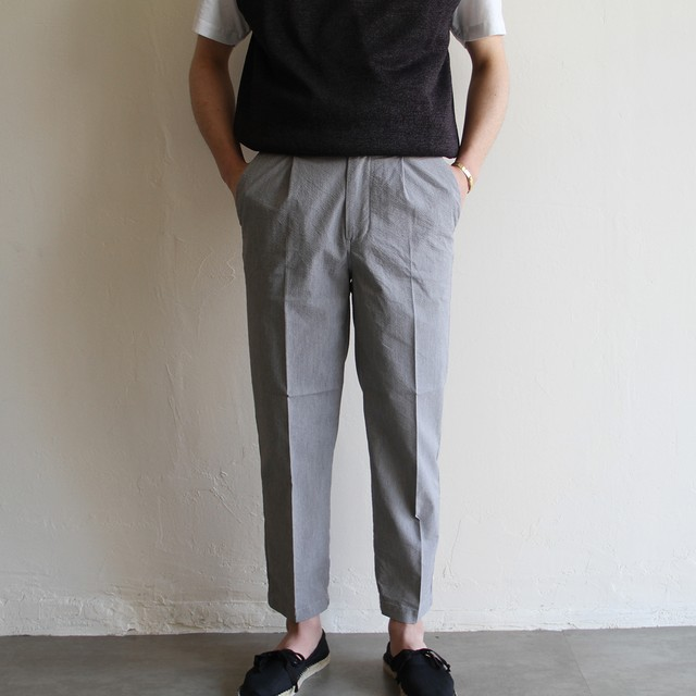 STILL BY HAND【 mens 】 cotton linen 2tuck pants