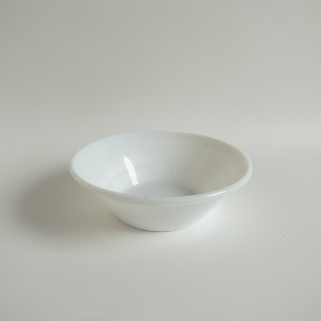 White glass bowl