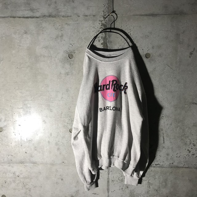 [Hard Rock Cafe]BARCELONA light grey sweat